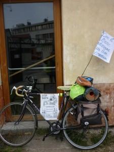 Un vélo et des messages